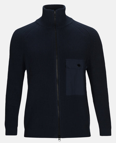 Mens blue full zip cardigan