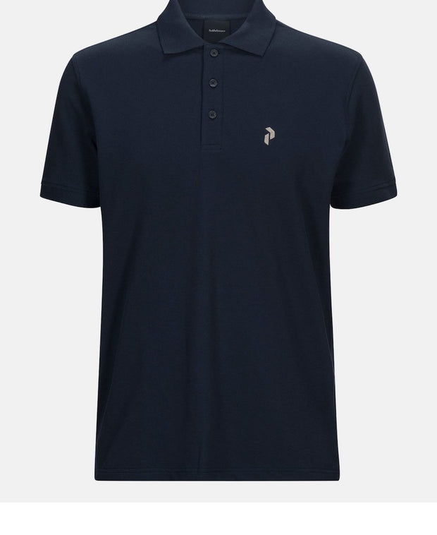 Blue men's golf shirt