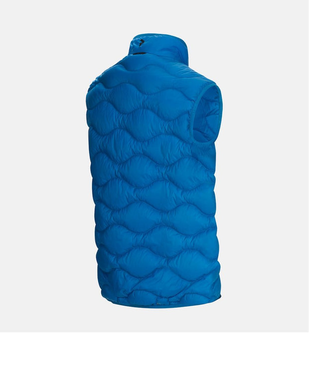3/4 rear view of Light Blue vest for Men