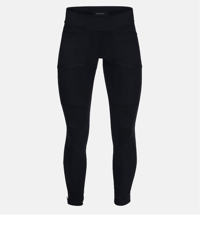 Women's black running tights with pockets