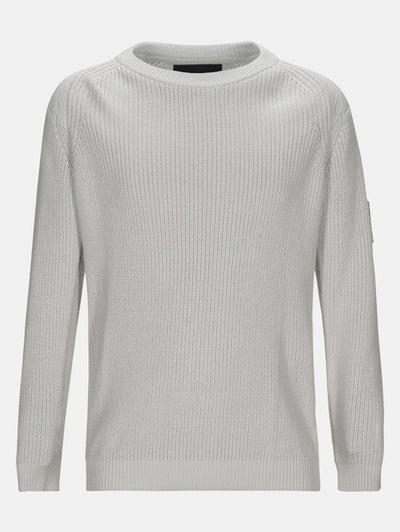 White crew neck sweater for men by Peak Performance