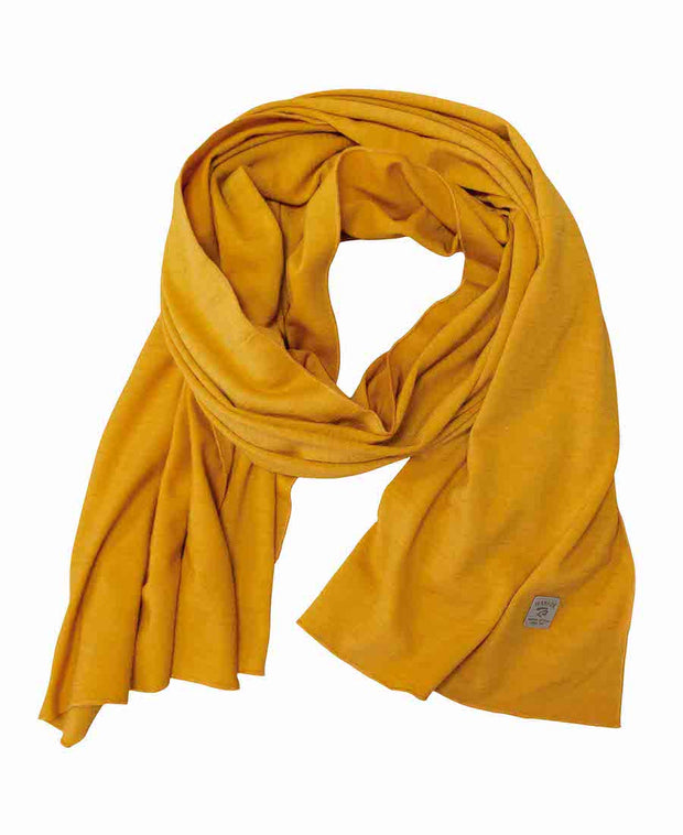 Amber Gold 100% extra fine merino wool thin scarf by Ivanhoe of Sweden for Aktiv