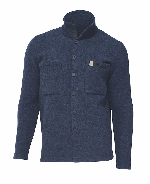Light navy overshirt for men by Ivanhoe of Sweden