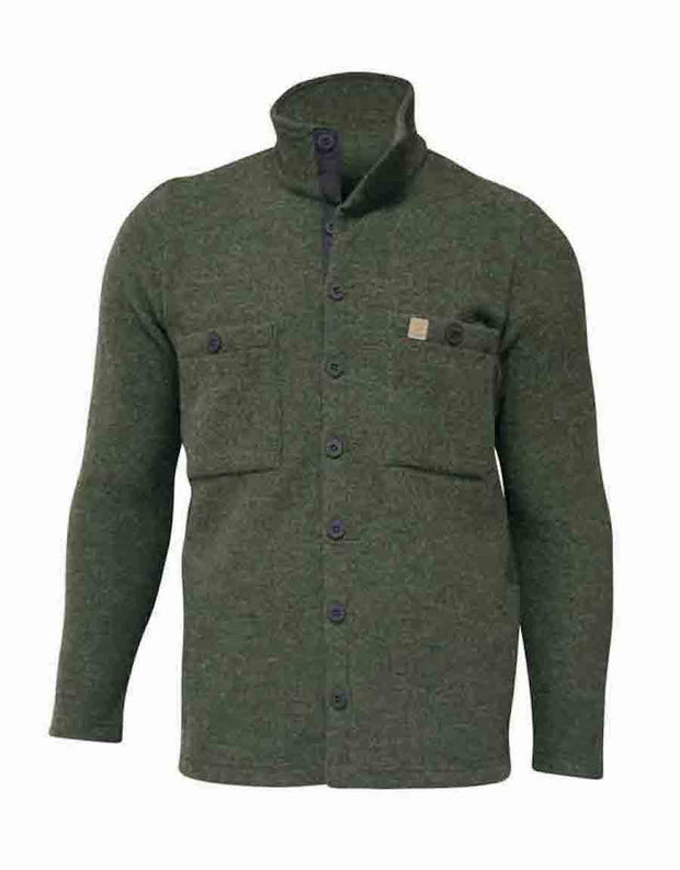 Forest green overshirt for men by Ivanhoe of Sweden