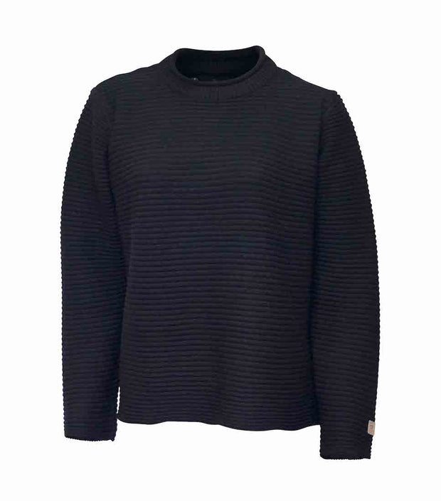 Fine merino wool rollneck sweater by Ivanhoe of Sweden for Aktiv in black.