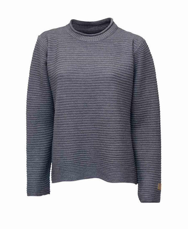Fine merino wool rollneck sweater by Ivanhoe of Sweden for Aktiv in gray.
