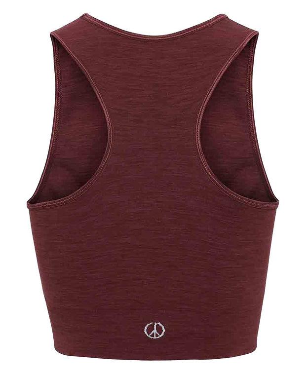 seamless crop top in geranium by moonchild yoga wear for aktiv scandinavian athleisure back view