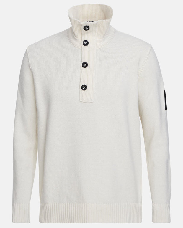 White buttoned sweater for men by Peak Performance