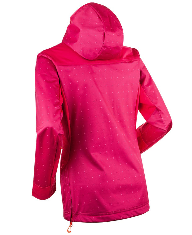 Back view of Pink womens ski coat by Bjorn Daehlie