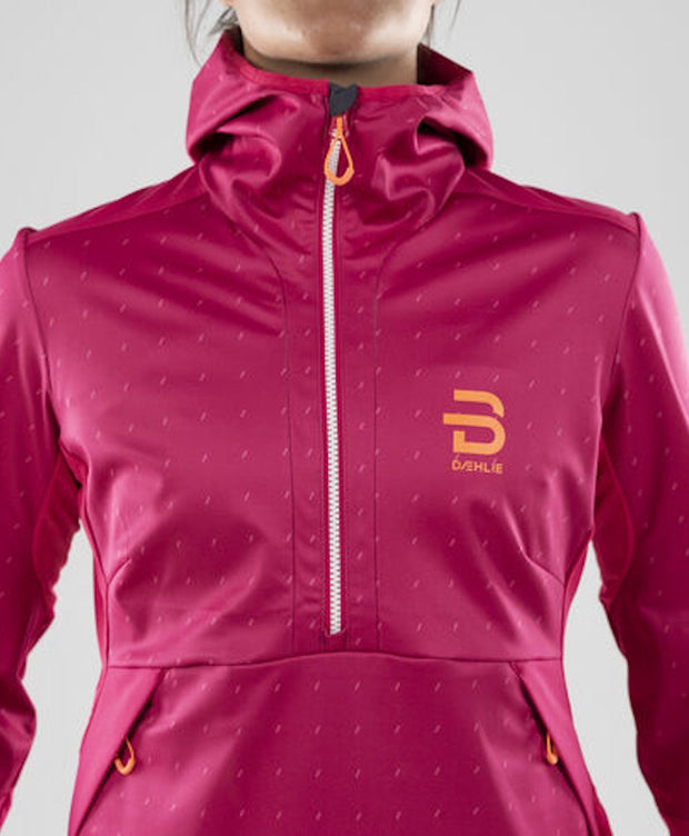 Front of Pink womens ski coat by Bjorn Daehlie