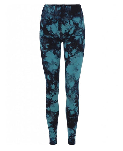 Illusion Leggings in Aura and Britney Blue in Recycled Fibers for Yoga