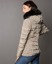 Women's Joline Ski Jacket Backview on model with faux fur collar by 8848 Altitude for Aktiv Scandinavian Activewear