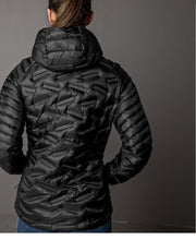 Lara Liner Black Lightweight Down Jacket Womens Outdoor Clothing by 8848 Altitude for women on model backview