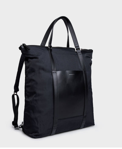 Marta Black Yoga Bag and Backpack by Sandqvist of Stockholm