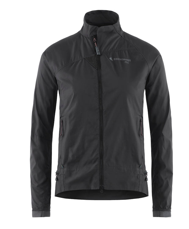 front view of women's nal jacket by klattermusen in raven black available at aktiv