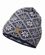 Navy Blue Norwegian Star Hat by Ivanhoe of Sweden for Aktiv Scandinavian Wool Hat
