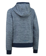 Blue quilted zipped hoodie for women by Kari Traa back view