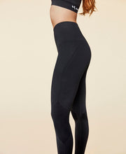 model in lux leggings by moonchild yoga wear for aktiv scandinavian athleisure side view