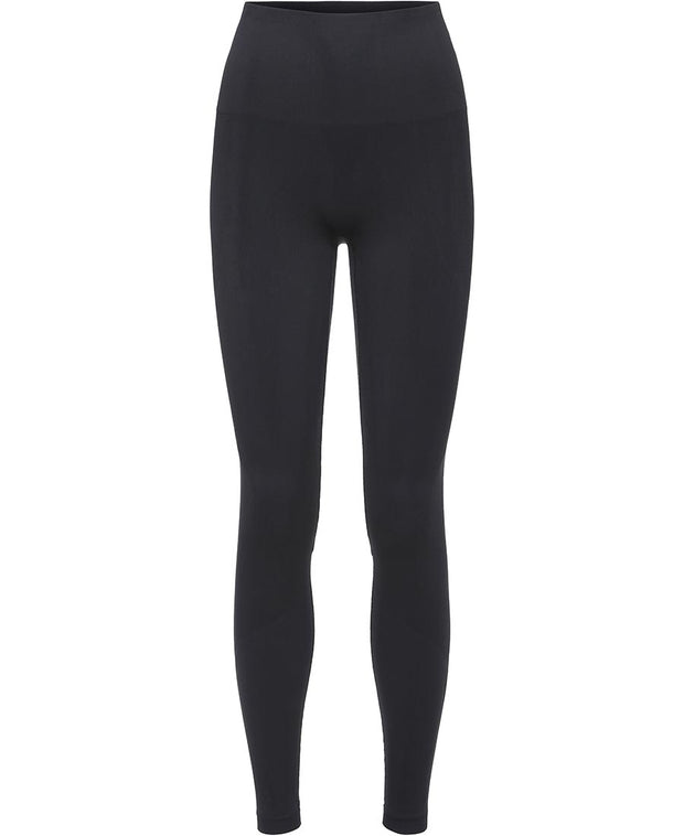 black seamless leggings by moonchild yoga wear for aktiv scandinavian athleisure front view