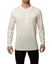 organic wool & silk long sleeve shirt mens white by northern playground for aktiv scandinavian outdoor wear front view