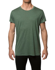 Man wearing a green T-Shirt.