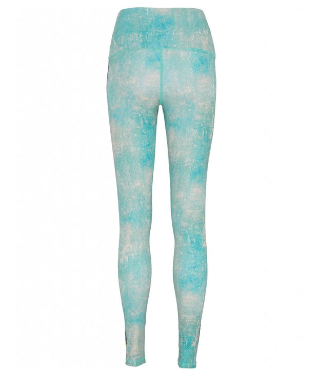 Peace Warrior II Printed Leggings Rear View