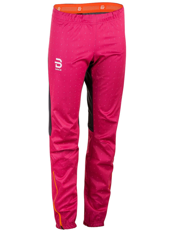 pink cross country ski pants for women by Bjorn Daehlie