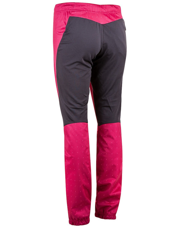 Back of pink cross country ski pants for women by Bjorn Daehlie