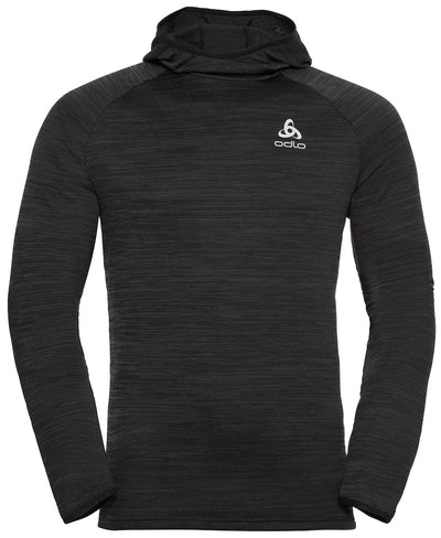 Black hooded sweatshirt for men by Odlo