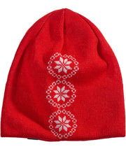 Red Beanie with Snowflakes by Seger for Aktiv Unisex Outdoor