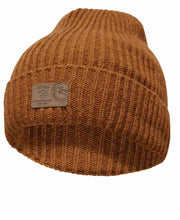 Class Rib knitted hat by Ivanhoe of Sweden for Aktiv in Amber Gold.