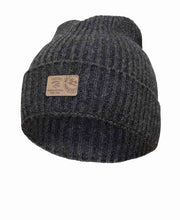 Class Rib knitted hat by Ivanhoe of Sweden for Aktiv in Graphite.