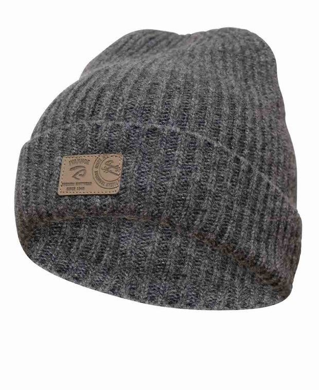 Class Rib knitted hat by Ivanhoe of Sweden for Aktiv in Grey.