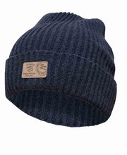 Class Rib knitted hat by Ivanhoe of Sweden for Aktiv in Light Navy.