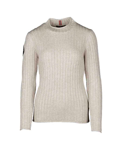 roalda roll neck sweater womens oatmeal by amundsen sports for aktiv scandinavian outdoor wear