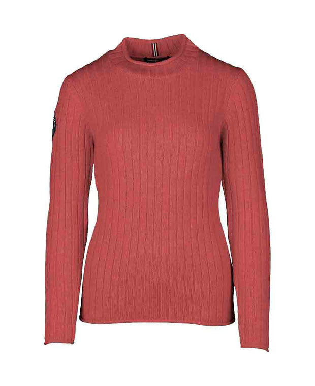 roalda roll neck sweater womens red by amundsen sports for aktiv scandinavian outdoor wear