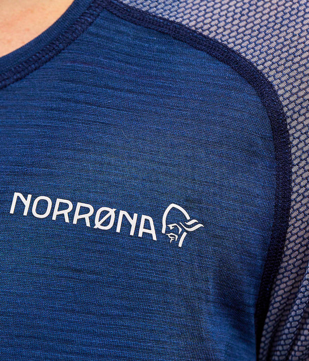 Close up view of LOng sleeve wool shirt for women by Norrona