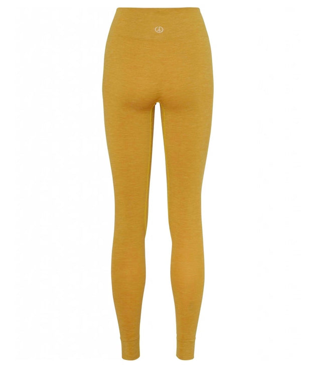 Dandelion yellow seamless leggings by moonchild yoga wear for aktiv scandinavian athleisure back view