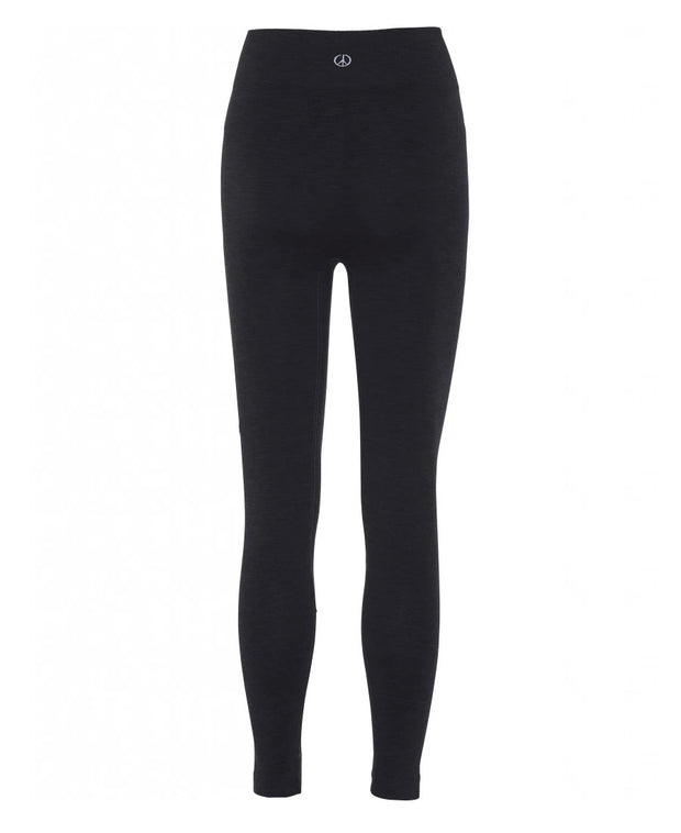 7/8th Seamless Legging in Black for yoga and all Athletics back view
