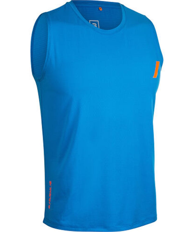 Blue tank top for men by Daehlie for running