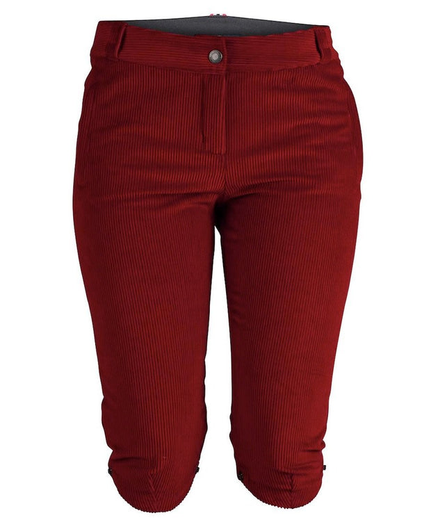 concord slim knickerbockers womens ruby red by amundsen sports for aktiv scandinavian outdoor wear front view