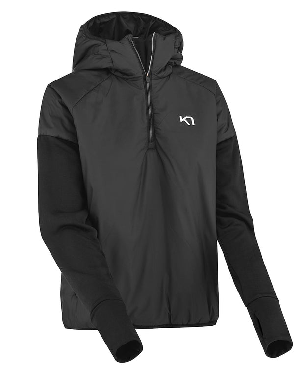 Zipped and hooded black jacket by Kari Traa for women