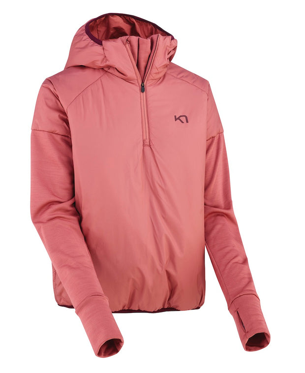 Zipped and hooded pink jacket by Kari Traa for women