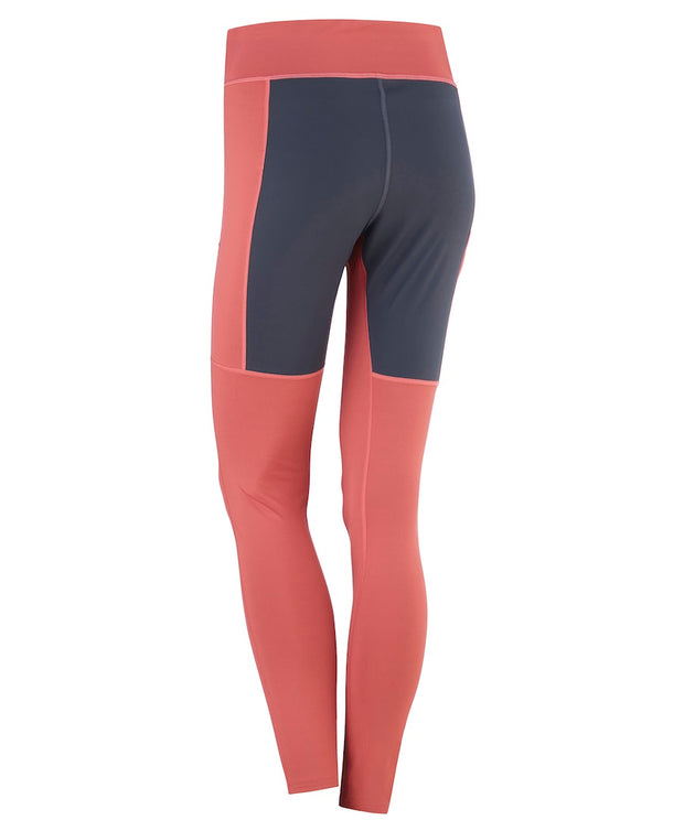 Back of Taffy Pink tights for women by Kari Traa with a gray seat