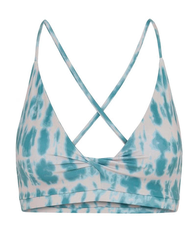 Tigerlilly Printed Bra top Turquoise Cream Batik