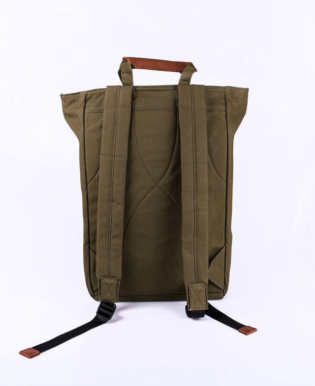 Tony Tote/backpack in Olive Backside view
