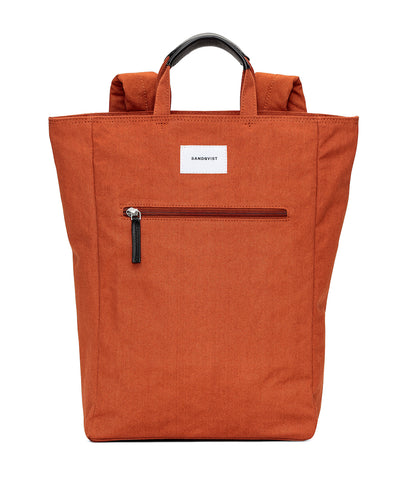 Tony Tote/backpack in Rust with exterior zipper by Sandqvist for Aktiv