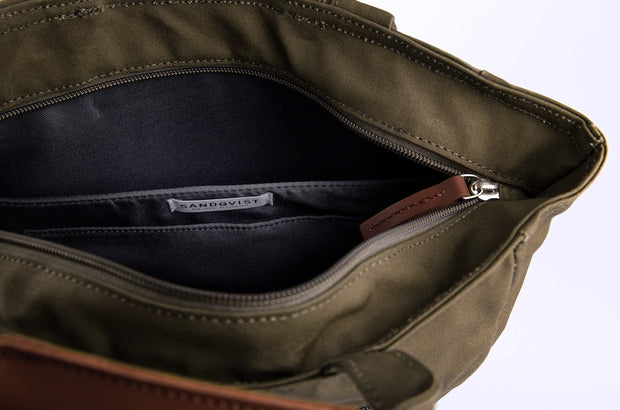 Tony Tote/backpack in Olive Interior pocket by Sandqvist for Aktiv