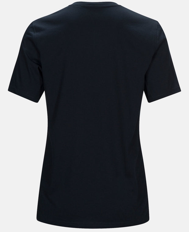 Back of Dark blue men's t-shirt by Peak Performance.