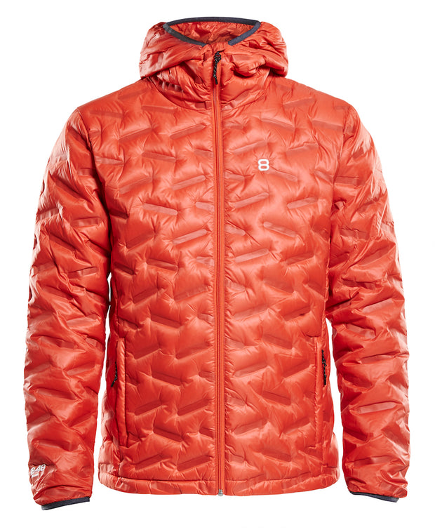 Men's Transform duck down puffy jacket in red clay by 8848 Altitude for Aktiv